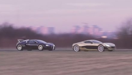 Video: Rimac One vs Bugatti Veyron in drag race