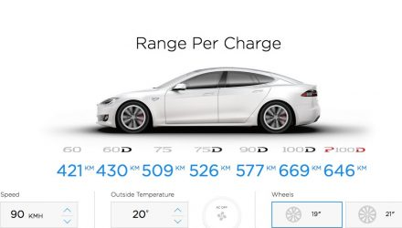 Tesla Model S 100D variant announced, longest range yet