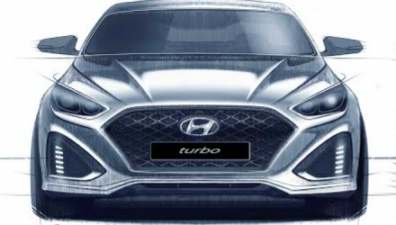 2018 Hyundai Sonata sketches show aggressive new face