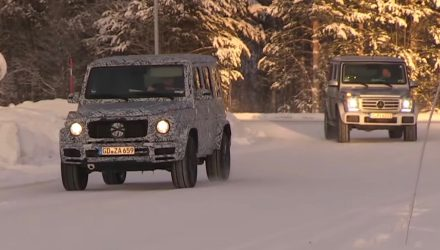 2018 Mercedes-Benz G-Class spotted winter testing, looks bigger (video)