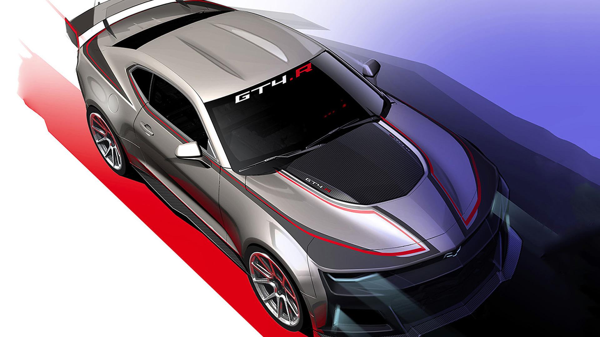Chevrolet Camaro Bodykit >> Chevrolet Camaro GT4.R sketch previews upcoming racer ...
