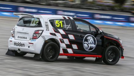 Holden Barina AP4 rally car shows promise