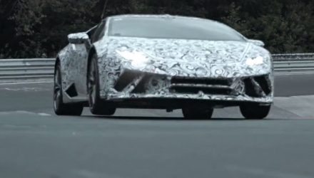 Lamborghini Huracan Performante teases Nurburgring record (video)