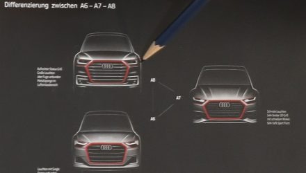 2018 Audi A6, A7, A8 front end designs revealed in design sketch