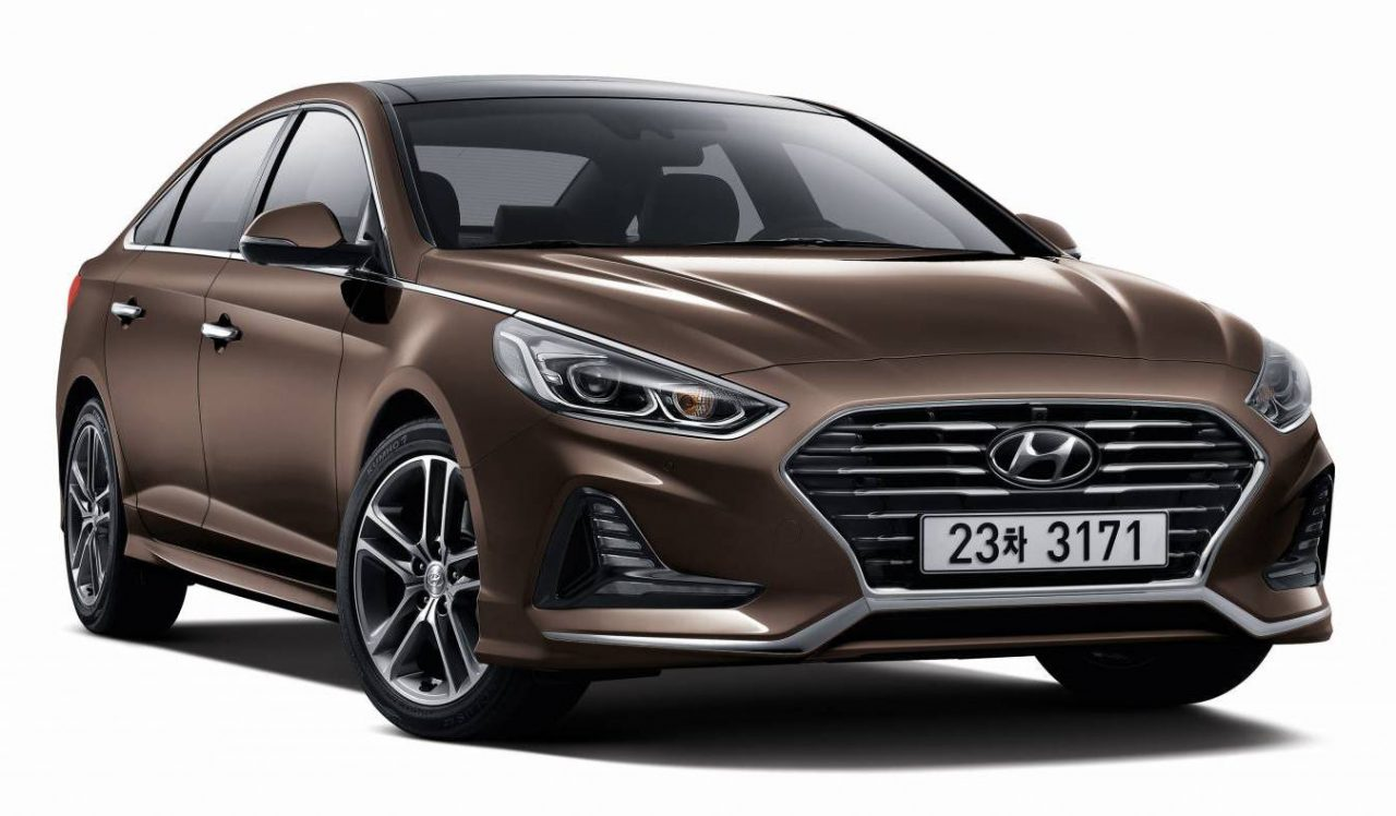 2018 hyundai sonata unveiled with sharp new look sporty turbo confirmed performancedrive. Black Bedroom Furniture Sets. Home Design Ideas