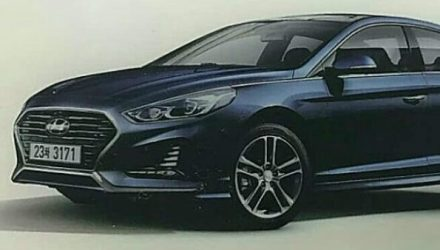 2018 Hyundai Sonata surfaces, gets new-look face