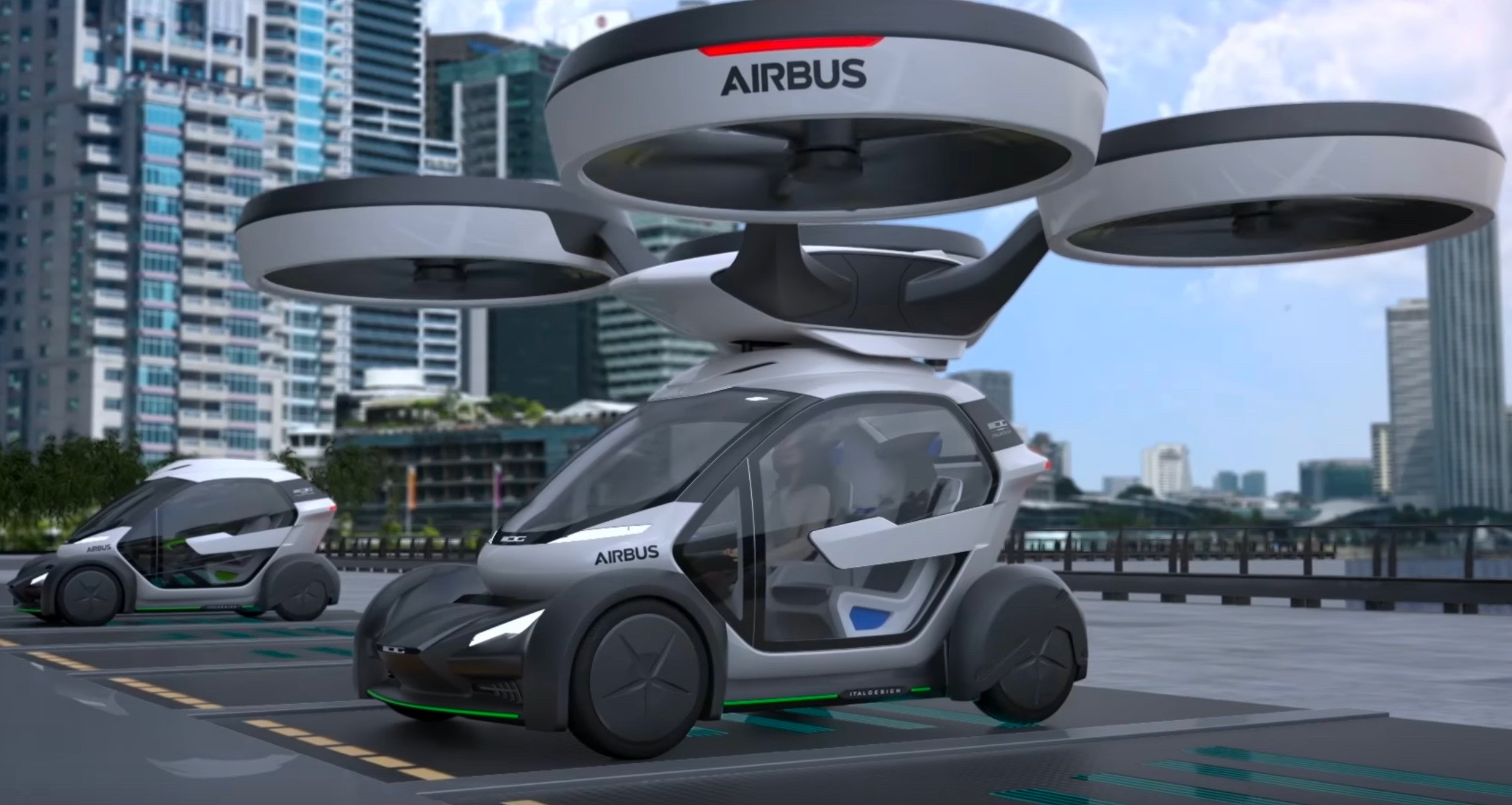 Pop Up Vehicles : Italdesign airbus reveal futuristic pop up car with