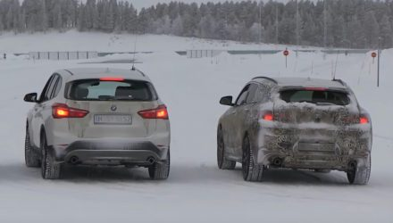 BMW X2 prototypes spotted testing along side X1 (video)