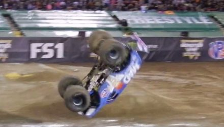 Video: Monster truck performs world first front flip