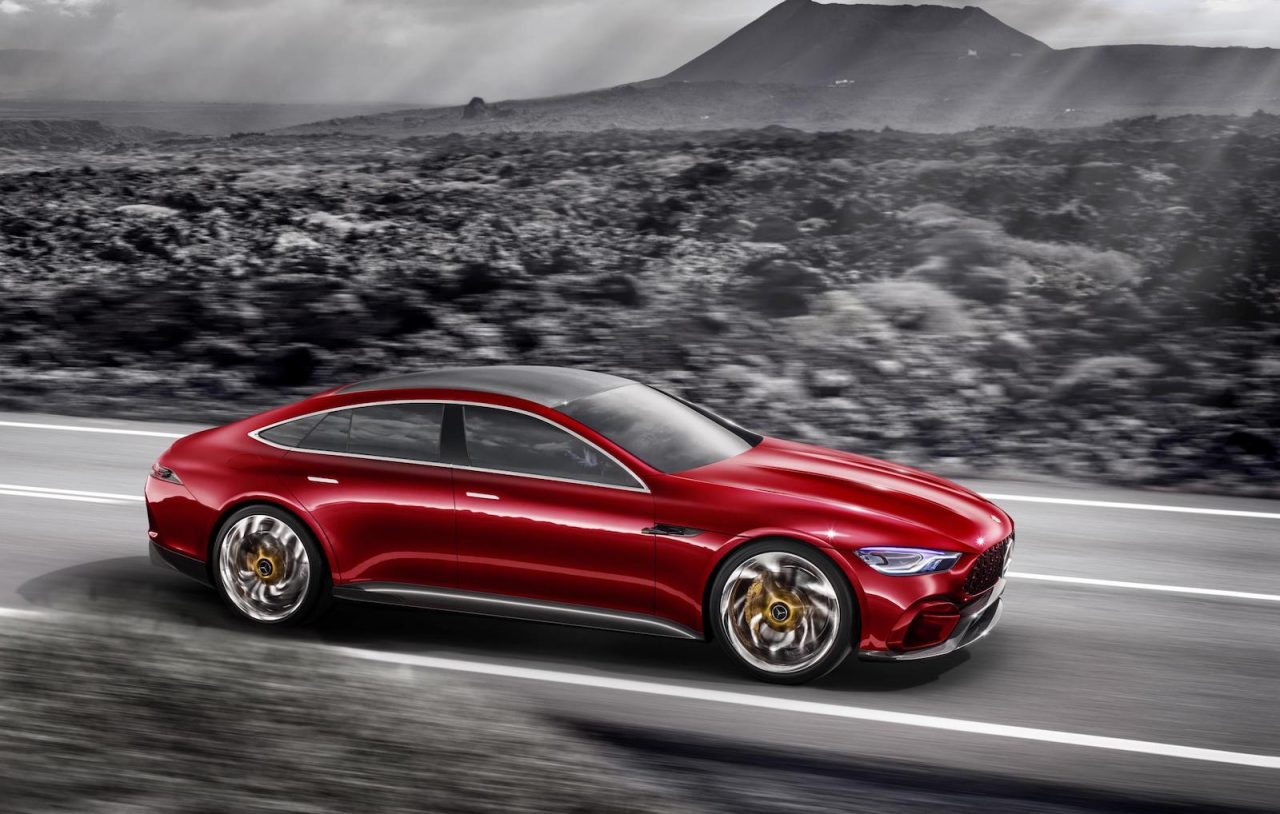 mercedes amg gt concept revealed previews upcoming four. Black Bedroom Furniture Sets. Home Design Ideas