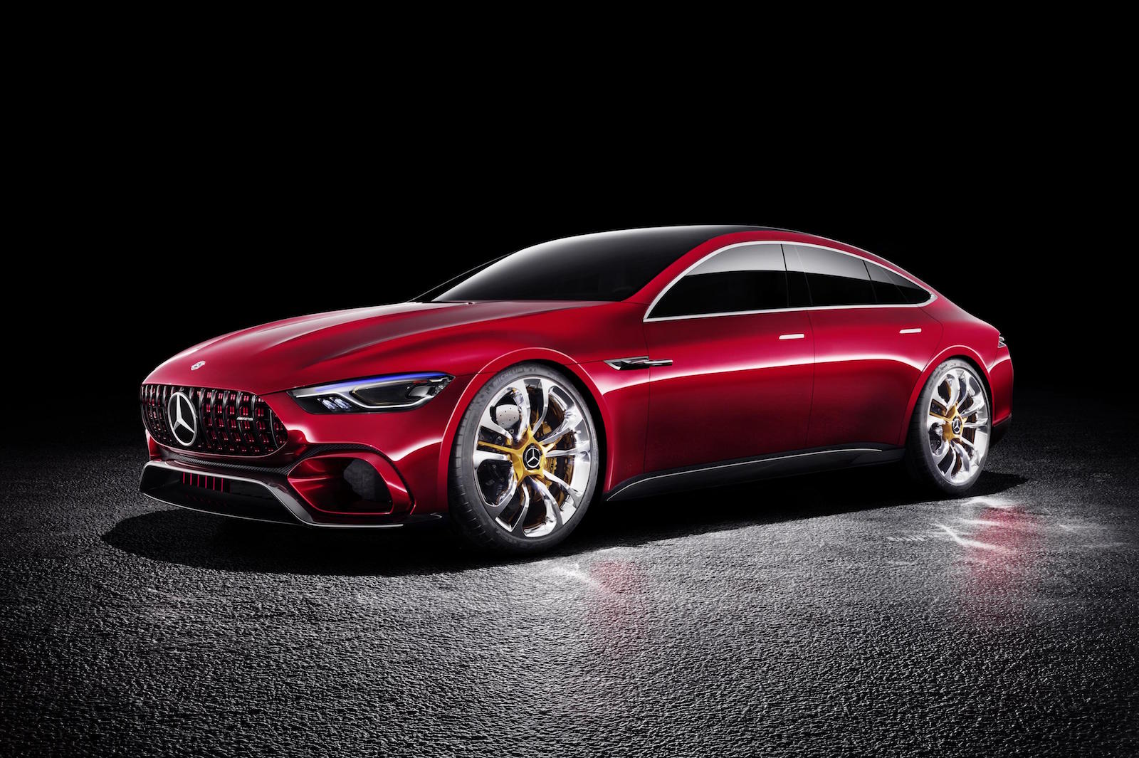 mercedes amg gt concept revealed previews upcoming four door coupe performancedrive. Black Bedroom Furniture Sets. Home Design Ideas