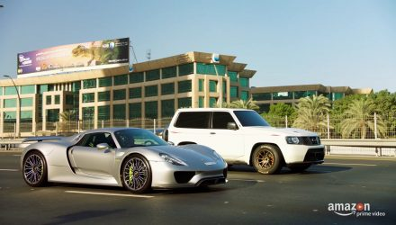 Video: Nissan Patrol with GT-R power smokes Porsche 918