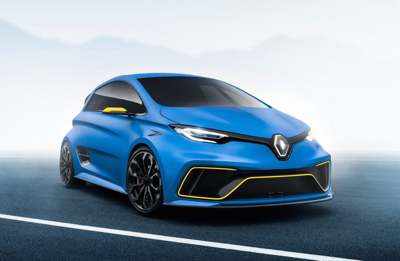 renault zoe e sport concept does 0 100km h in performancedrive. Black Bedroom Furniture Sets. Home Design Ideas