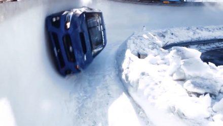 Subaru WRX bobsled Mark Higgins