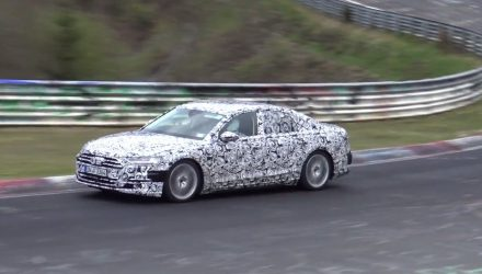 2018 Audi S8 spotted testing, nice V8 sound (video)