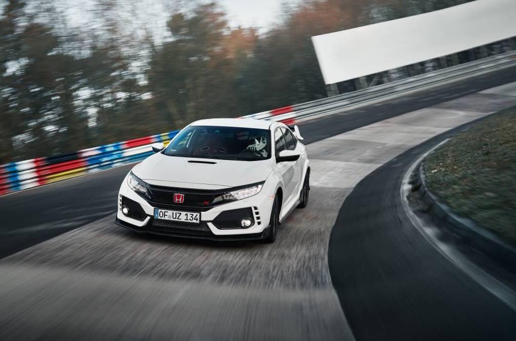2018 honda civic type r sets nurburgring lap record video performancedrive. Black Bedroom Furniture Sets. Home Design Ideas