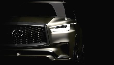 New-look Infiniti QX80 previewed, debuts at New York show