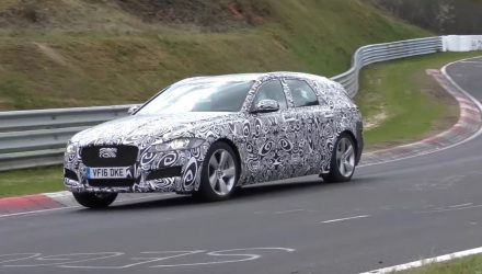 New Jaguar XF Sportbrake spotted at Nurburgring (video)