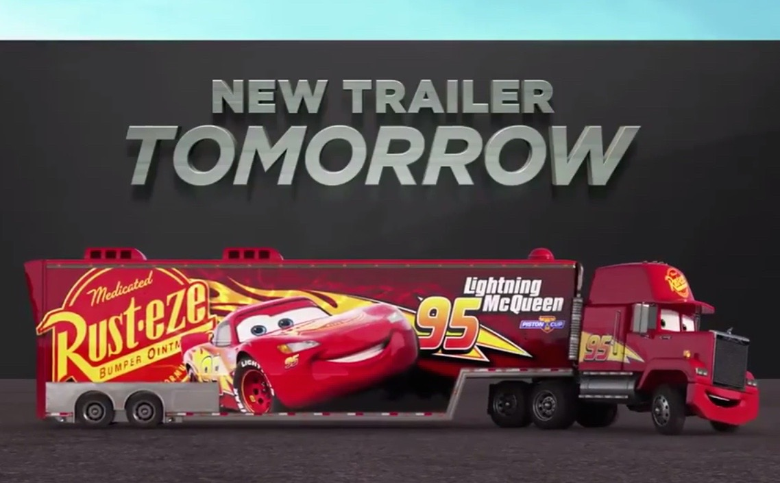 Cars 3 official trailer coming tomorrow, teaser released (video ...