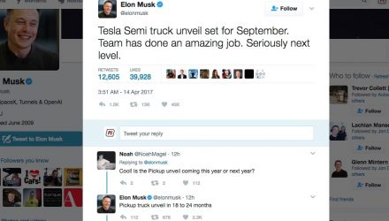 Elon Musk confirms Tesla truck debut in September