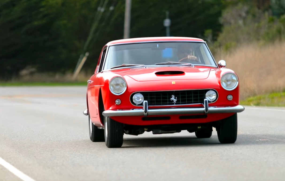 ferrari 250 gte with chev v8 is sure to stir controversy (video