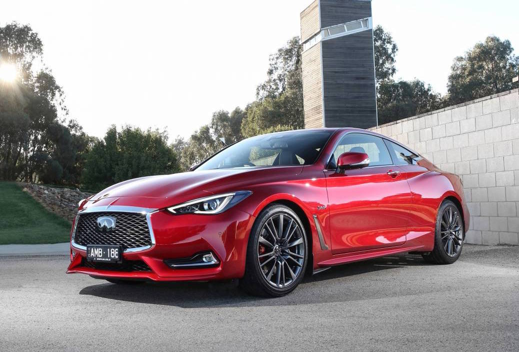 twin turbo infiniti q60 red sport now on sale in australia. Black Bedroom Furniture Sets. Home Design Ideas
