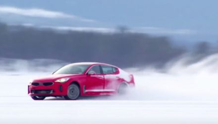 Video: Kia Stinger goes winter testing, shows drifting potential