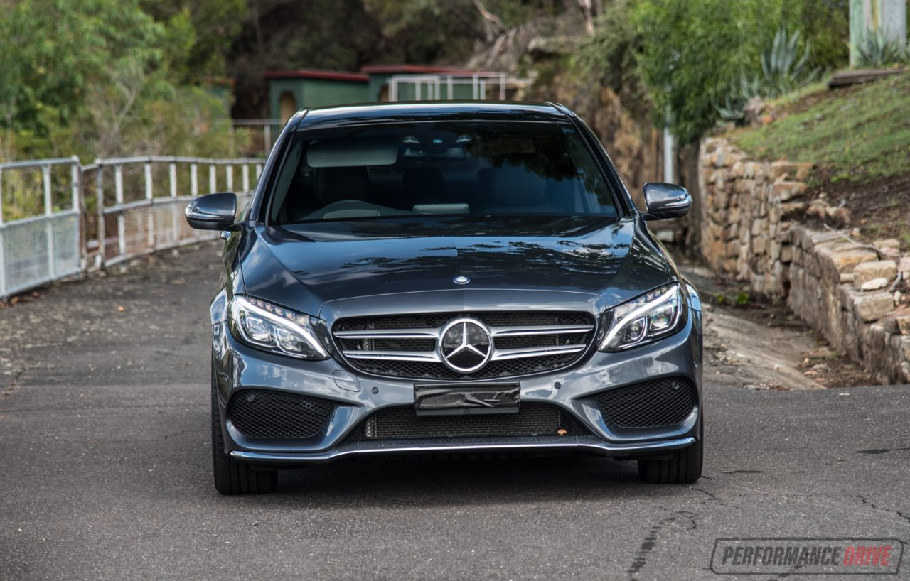 Mercedes benz c 250 amg line review video performancedrive for Mercedes benz aftermarket headlights