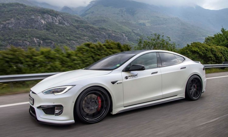 prior design tesla model s p100d shows ev tuning potential performancedrive. Black Bedroom Furniture Sets. Home Design Ideas