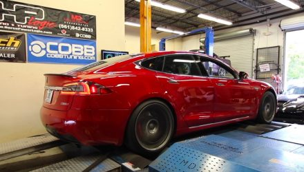 Tesla Model S P100D makes 438kW at the wheels (dyno video)