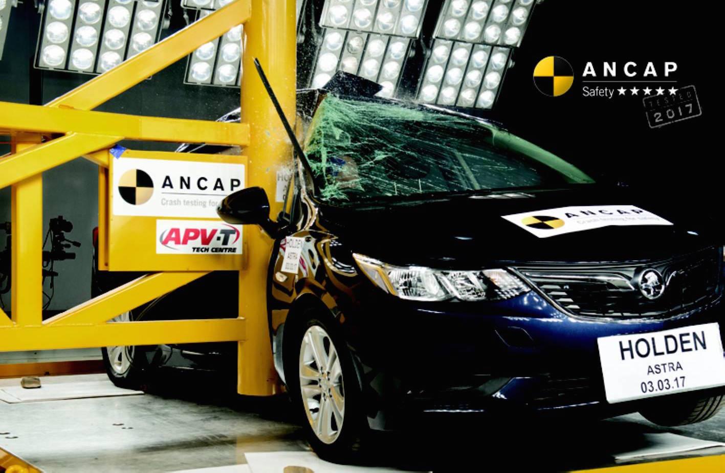 New Subaru XV Holden Astra sedan get 5star ANCAP rating