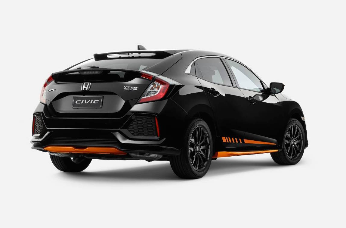 honda australia adds orange edition black pack to civic. Black Bedroom Furniture Sets. Home Design Ideas