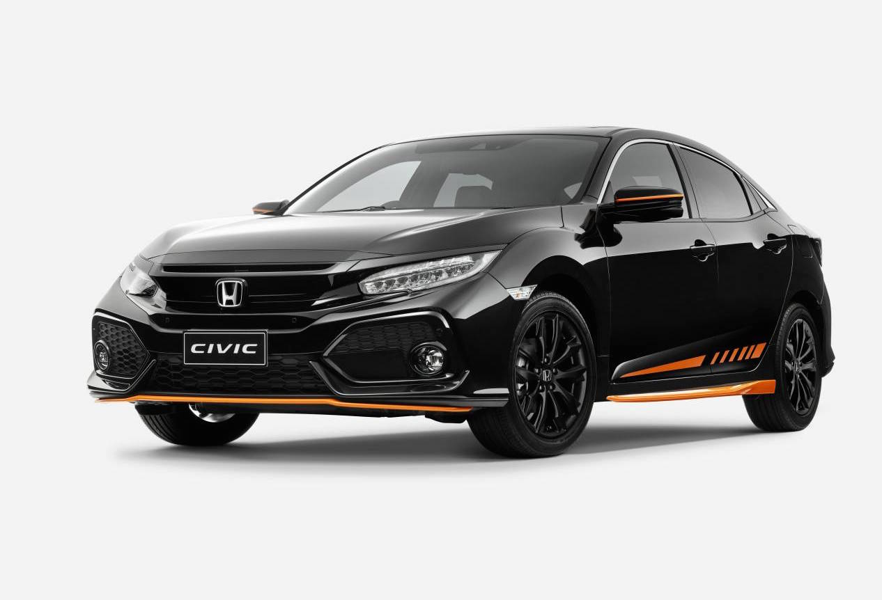 honda australia adds orange edition black pack to civic hatch performancedrive. Black Bedroom Furniture Sets. Home Design Ideas