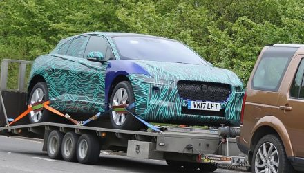 Jaguar I-PACE spotted in production form