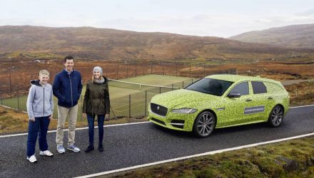 New Jaguar XF Sportbrake drives to world's most remote tennis court