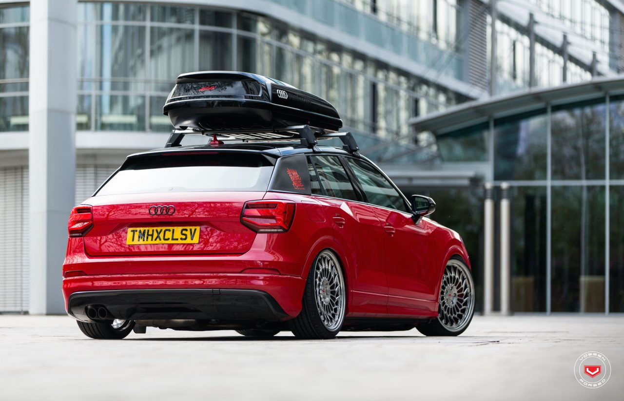audi q2 slammed with vossen wheels shows potential performancedrive. Black Bedroom Furniture Sets. Home Design Ideas