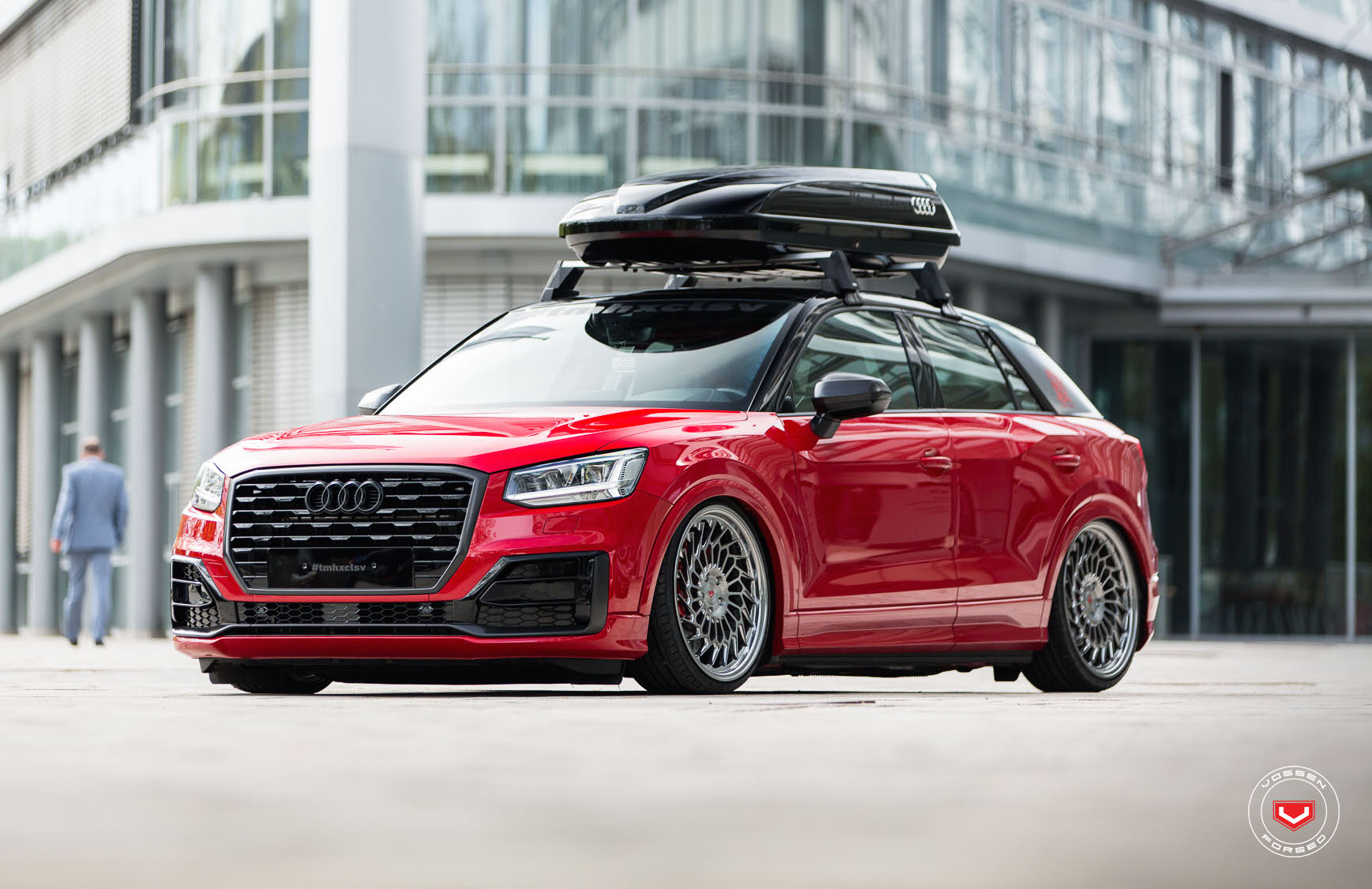 audi q2 slammed with vossen wheels shows potential. Black Bedroom Furniture Sets. Home Design Ideas