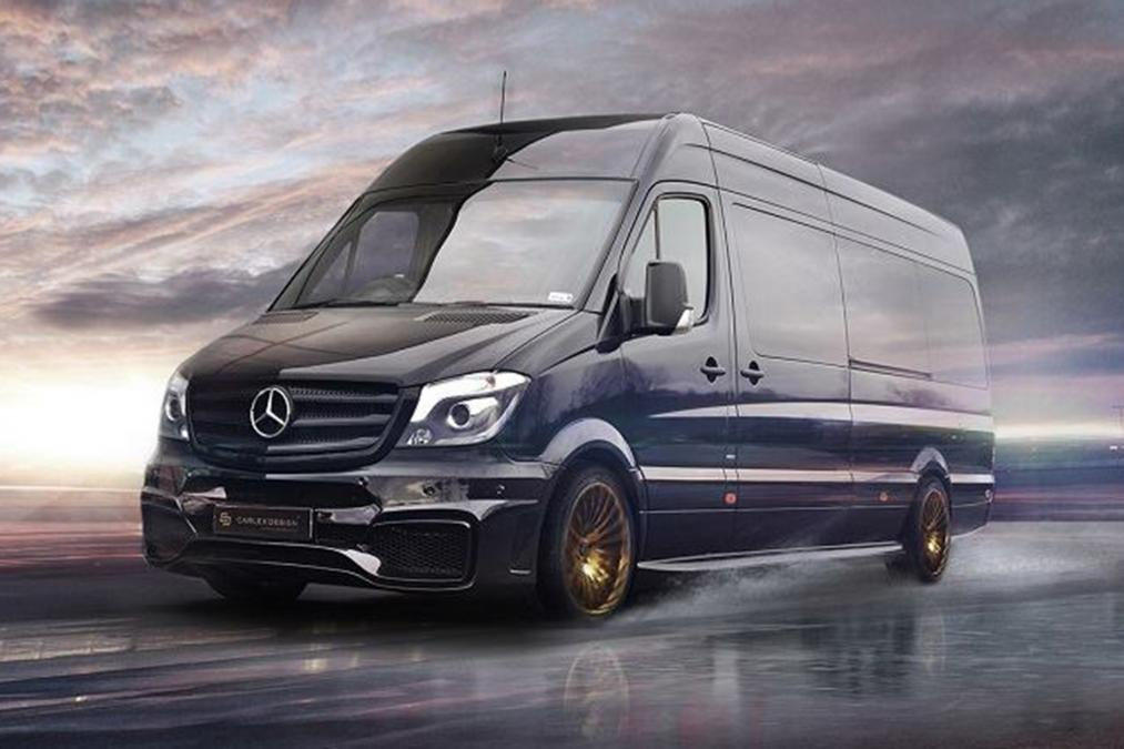 Carlex mercedes benz jet van converts sprinter into first for Mercedes benz sprinter truck