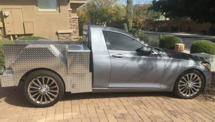 For Sale: Hyundai Genesis converted into a pickup/ute
