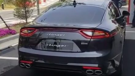 Kia Stinger engine sound showcased for first time (video)