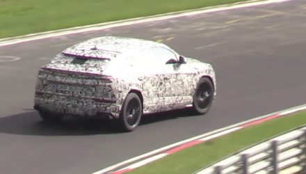 Lamborghini Urus prototype spotted at Nurburgring, with V8 sound (video)