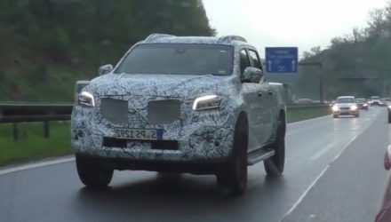 Mercedes-Benz X-Class ute spotted, production body? (video)