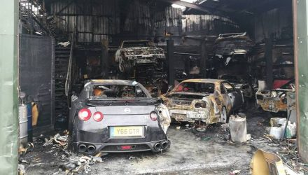 Nissan Skyline tuning shop burns down, 7 cars destroyed