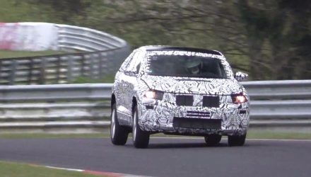 Volkswagen T-Roc spotted, pushing hard at Nurburgring (video)