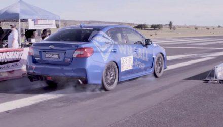 Stock-looking Subaru WRX STI runs the quarter mile in 10 seconds (video)