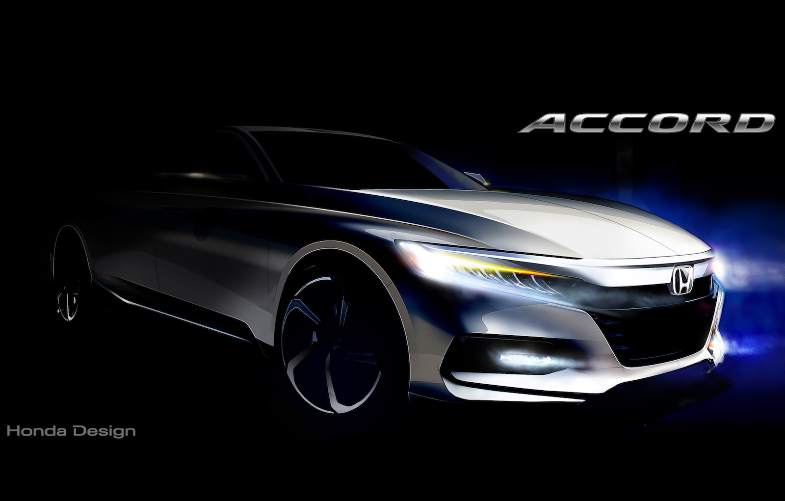 design sketch of the 2018 Honda Accord has been released, previewing ...