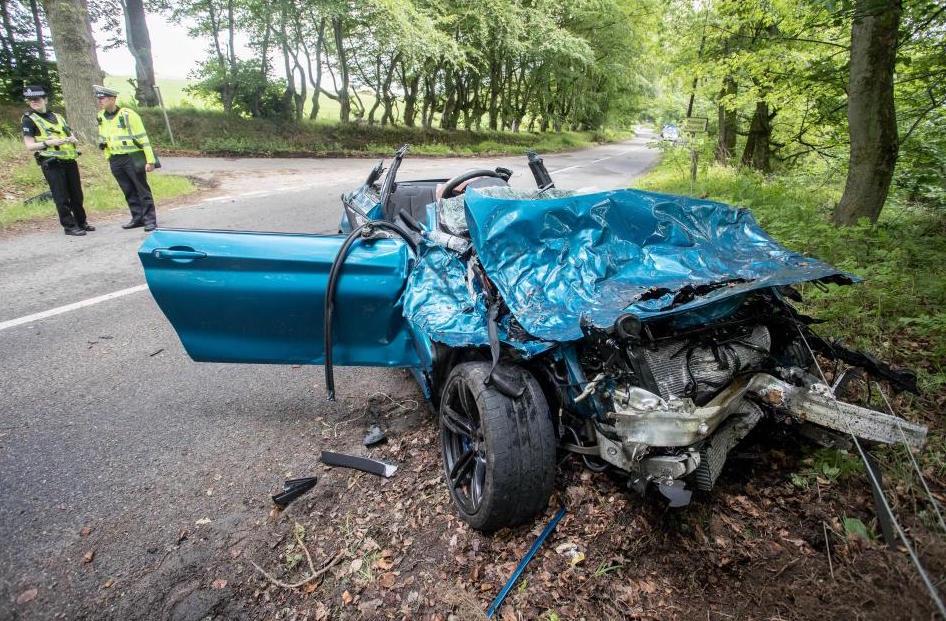 Bmw M2 Torn Apart In Serious Crash In Scotland Video Performancedrive