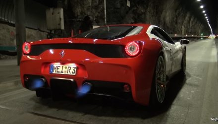 Ferrari 458 Speciale gets straight-through exhaust (video)