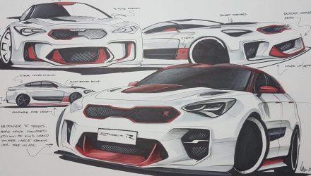 Artist impression: Hotter Kia Stinger 'GT R'