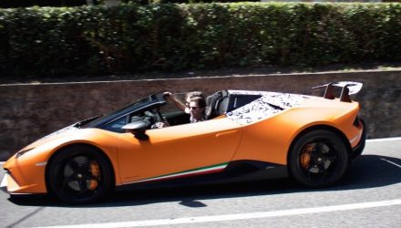 Lamborghini Huracan Performante Spyder spotted